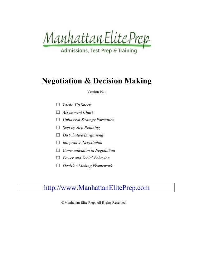 Manhattan Elite Prep Notice Mark Logo Negotiation Decision Chapter 1