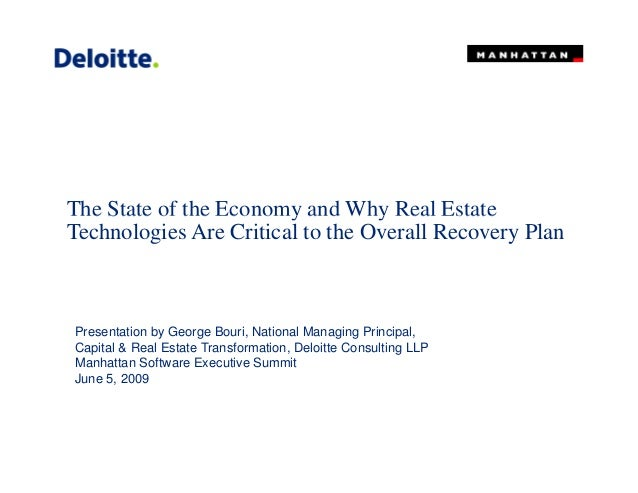 The State of the Economy and Why Real EstateThe State of the Economy and Why Real Estate Technologies Are Critical to the ...