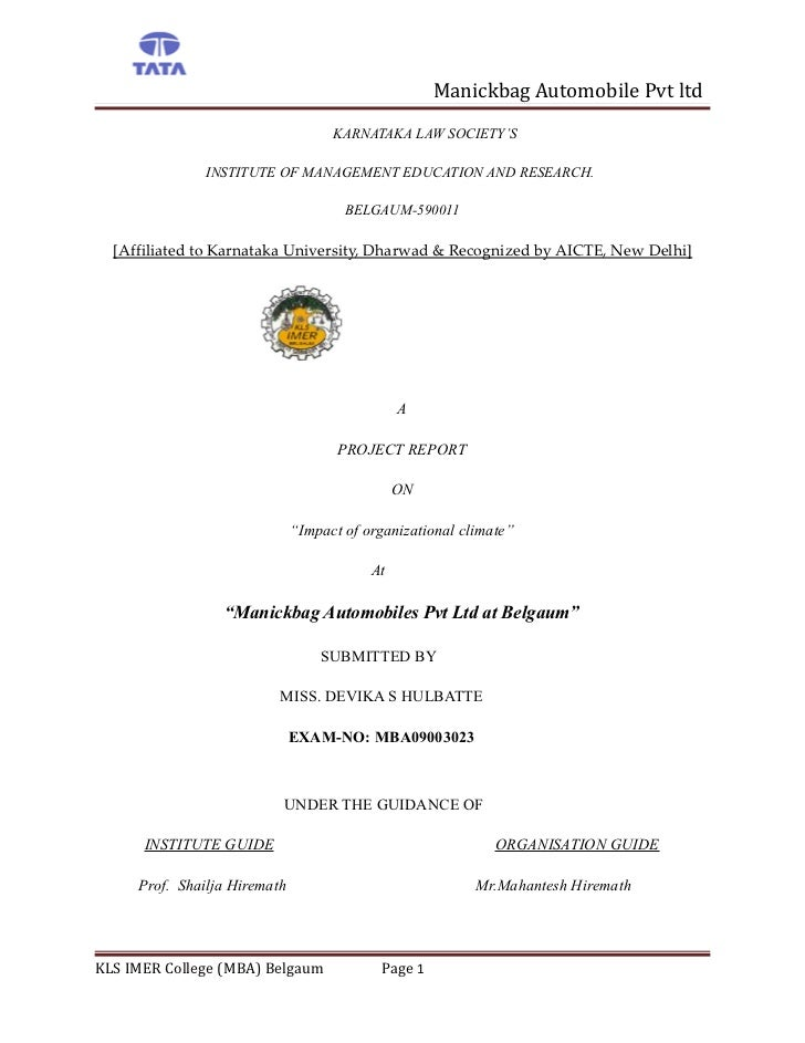 Manickbag Automobile Pvt ltd                                    KARNATAKA LAW SOCIETY'S               INSTITUTE OF MANAGEM...