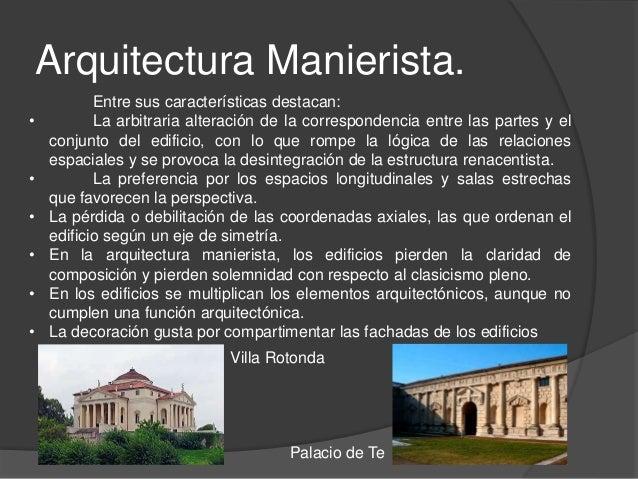 Identificaci n de elementos manieristas for Caracteristicas de la arquitectura