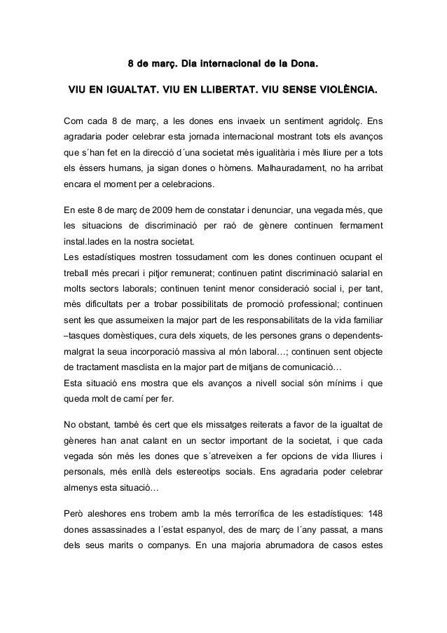 Manifest 8 De Març