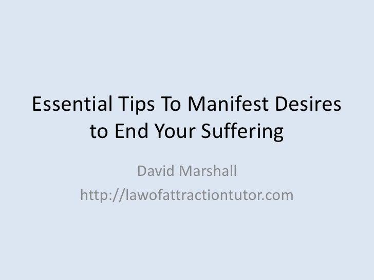 Manifest Desires - 7 Essential Insights