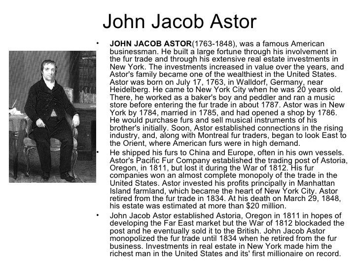 american fur trading company and john