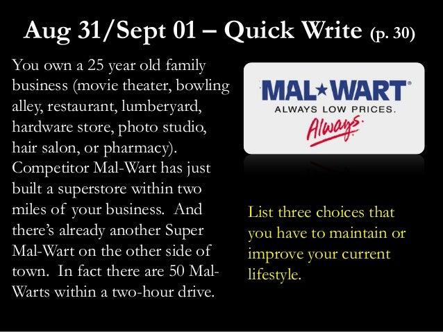 You own a 25 year old familybusiness (movie theater, bowlingalley, restaurant, lumberyard,hardware store, photo studio,hai...