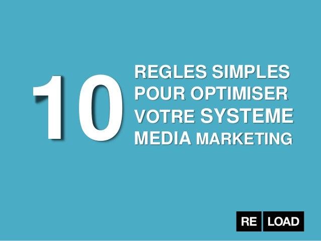 10 REGLES SIMPLES POUR OPTIMISER VOTRE SYSTEME MEDIA MARKETING