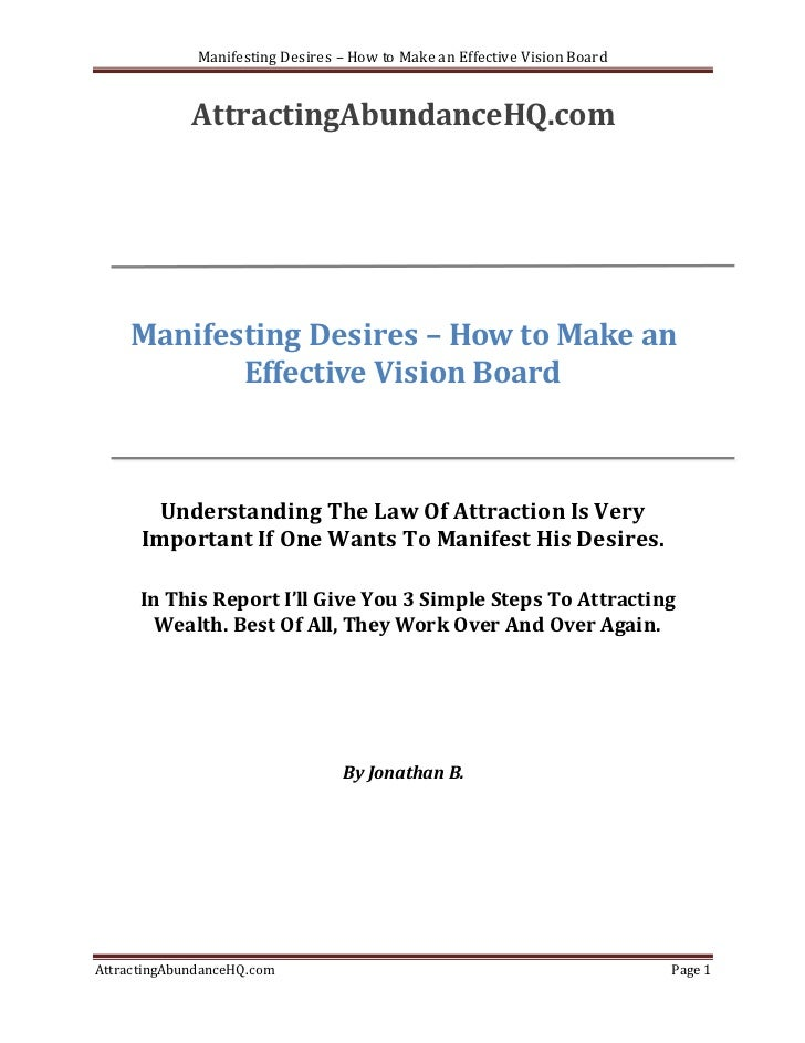 Manifesting desires – how to make an effective vision board