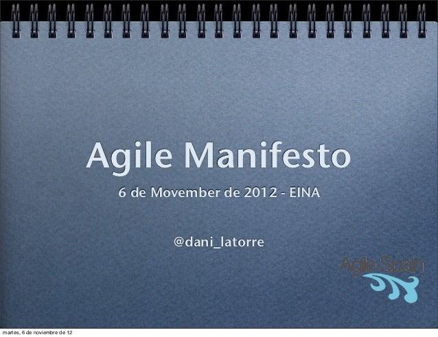 Agile Manifesto - EINA