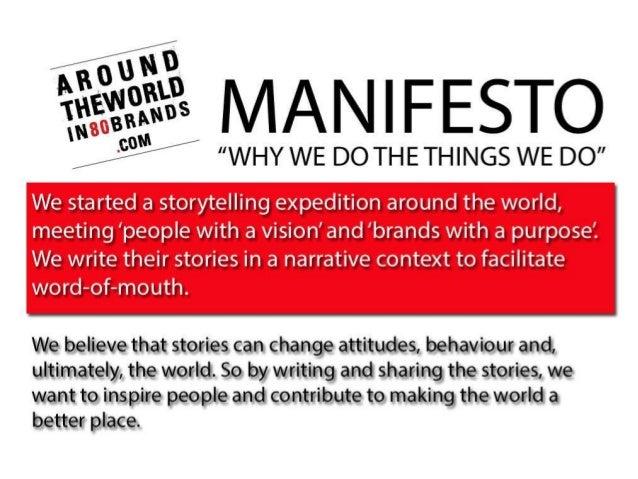 MANIFESTO - Around the World in 80 Brands
