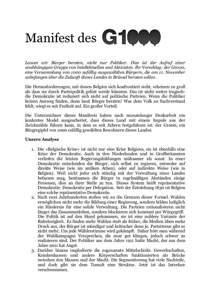 Manifest des G1000 (DE)