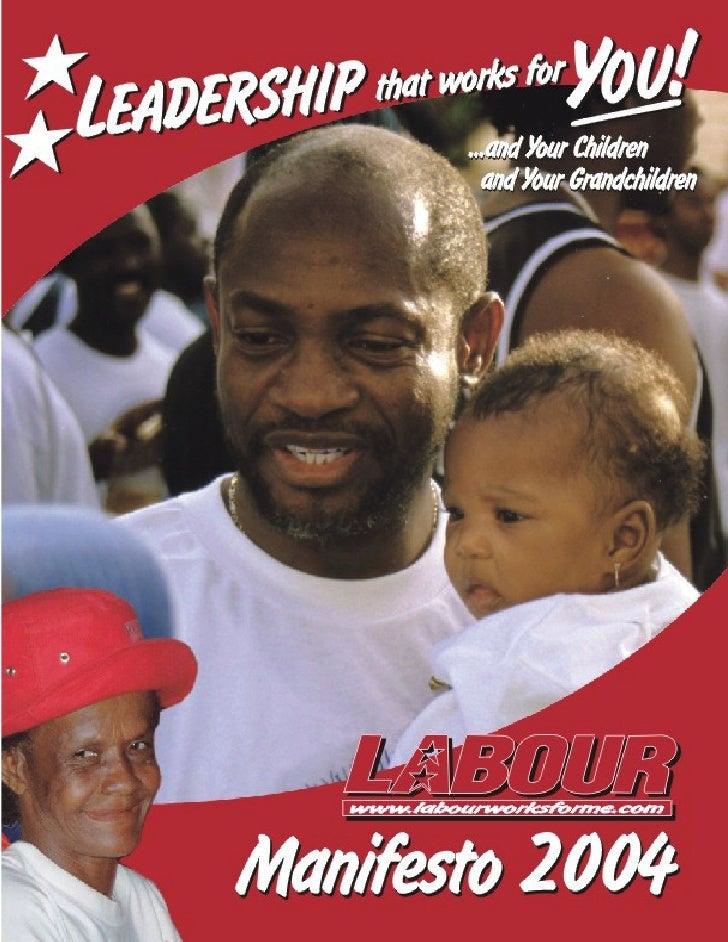 Message from the Political Leader   www.labourworksforme.com                                                              ...