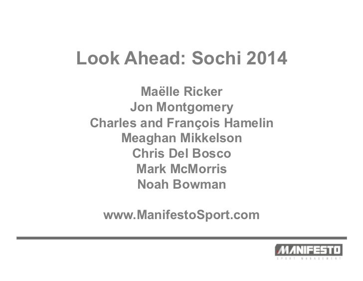 Manifesto Sport Management Athlete Overview Sochi 2014