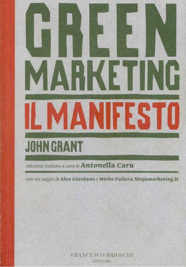 Manifesto green Marketing - estratto- John Grant