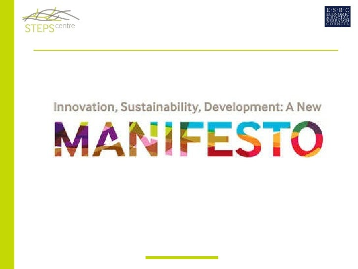 Manifesto launch presentation