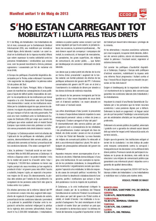 Manifest unitari 1maig 2013