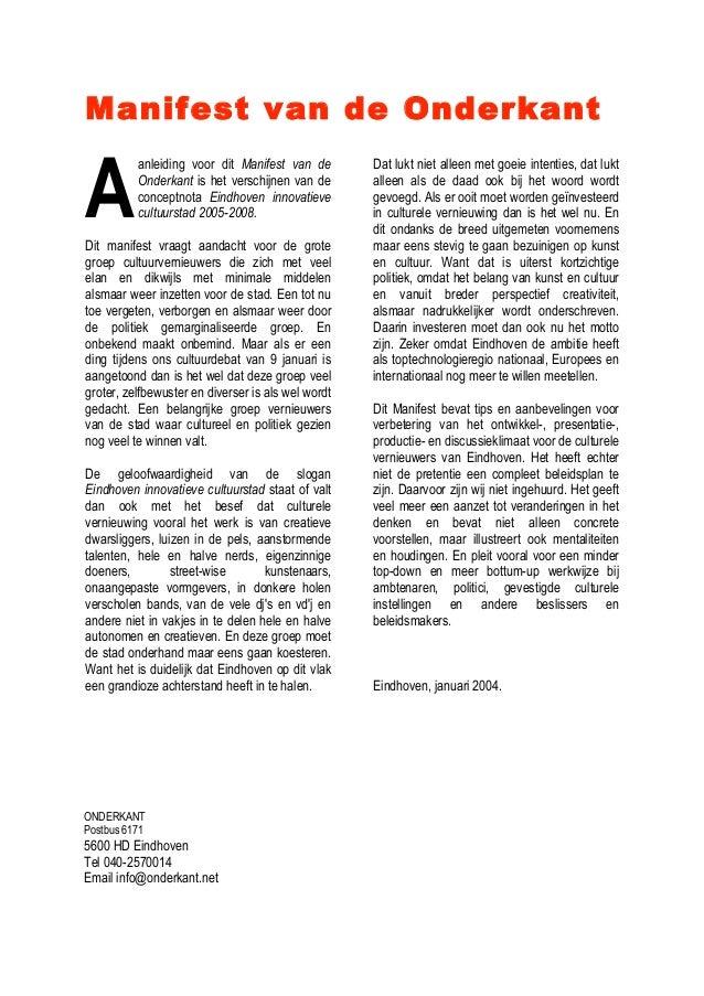 Manifest van de Onderkant (2004)