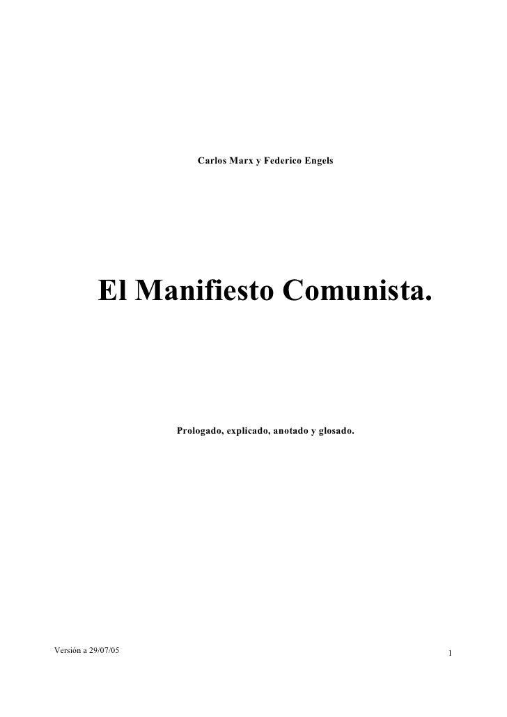 Manifiesto Comunista — Marx y Engles