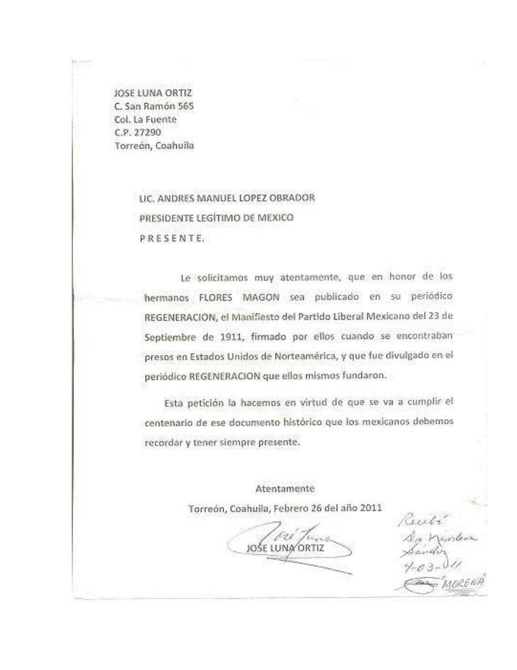 Manifiesto del partido liberal mexicano hermanos flores magon