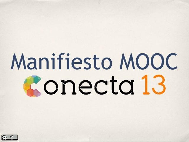 Manifiesto MOOC de Conecta13