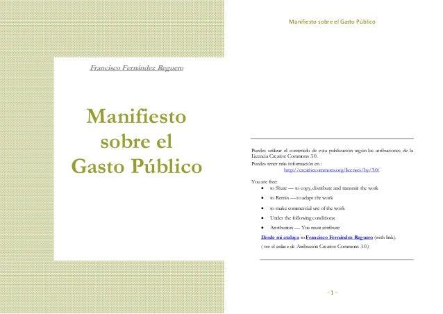 Manifiesto sobre el gasto público