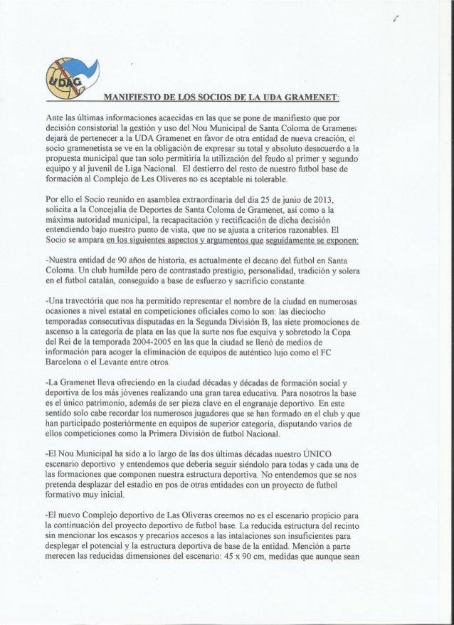 Manifiesto UDA Gramenet 25 06 2013