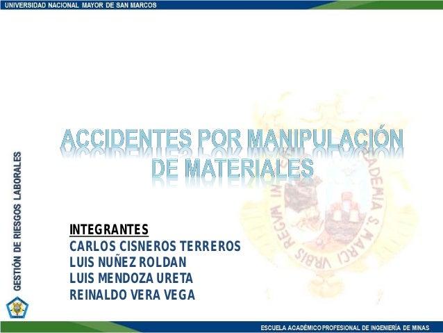 Accidentes por Manipulación de Materiales, incidentes, Perú