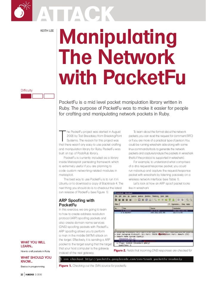 Manipulating the network with packet fu