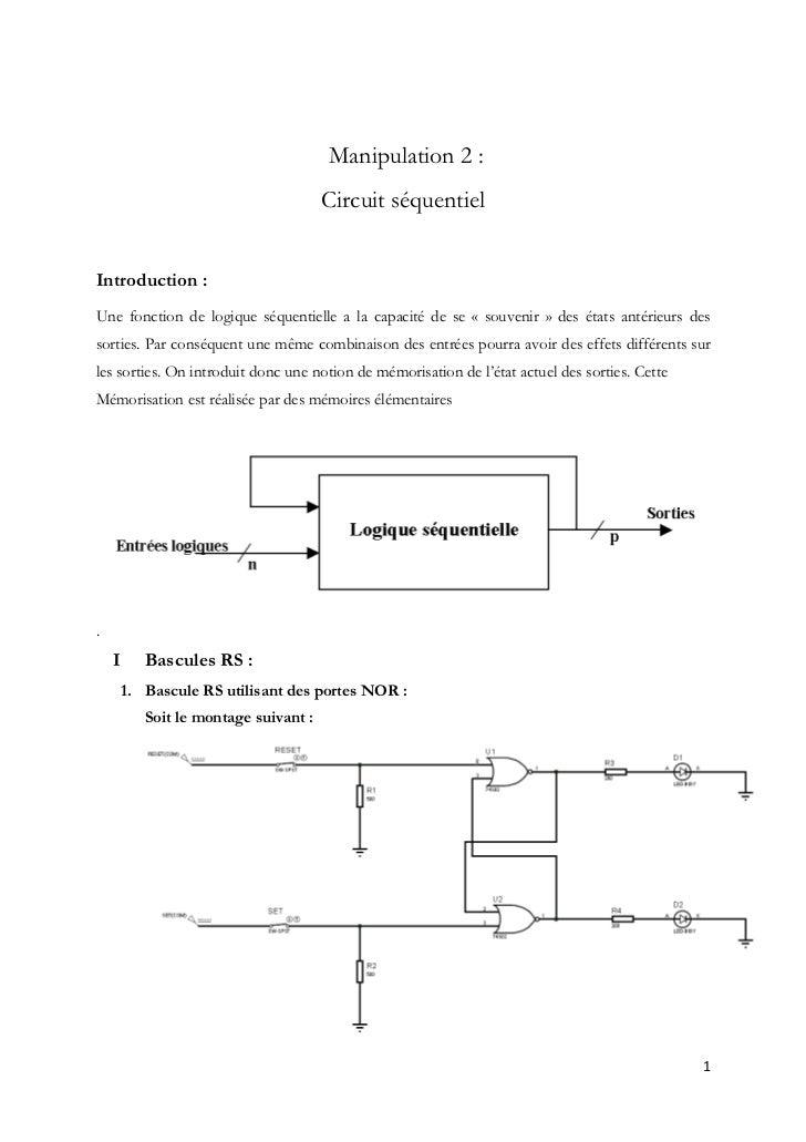Manipulation Circuits Logiques : Manipulation n 2