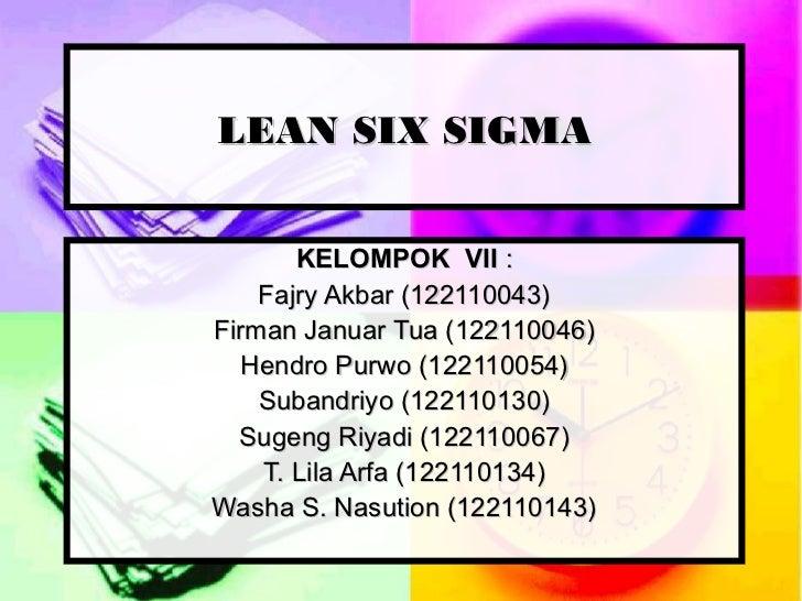 Manj kualitas lean six sigma (kel. 7)