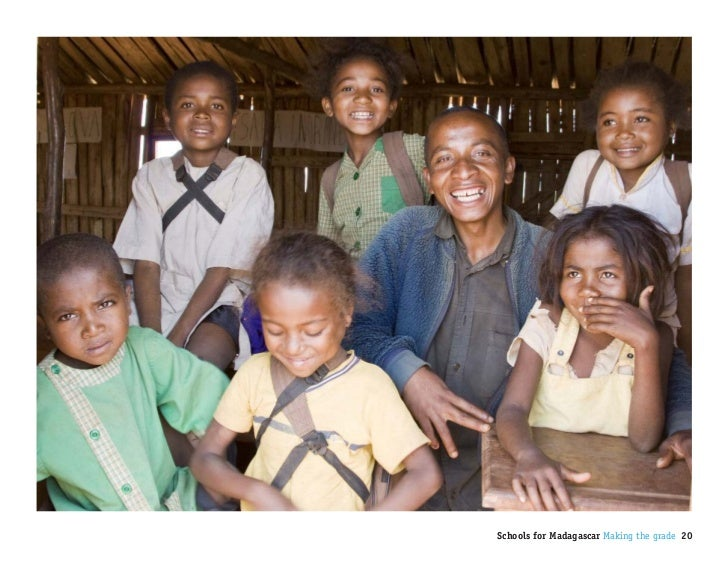 Schools for Madagascar Making the grade 20