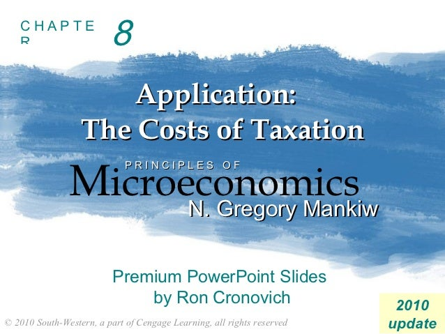 CHAPTE   R                     8                     Application:                  The Costs of Taxation               Mic...