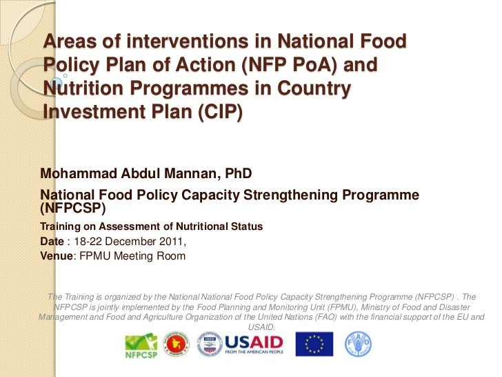 Mannan 2b areas of interventions in nfp po a and nutrition programmes in cip