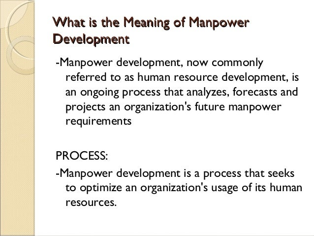 impact of manpower training and development on workers productivity pdf