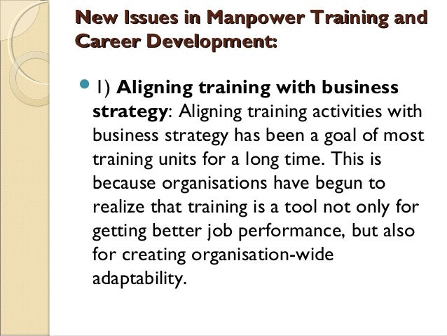 Manpower development for technological change