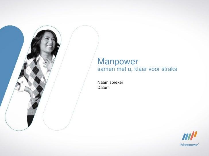 Manpower Nederland - Corporate presentatie