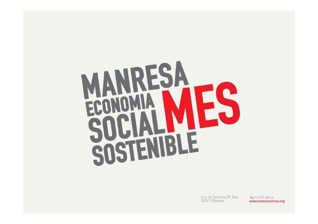 Estrategia               de apoyo a la               Economia Social   Manresa, Territorio    SOFES Socialmente   Servei d...