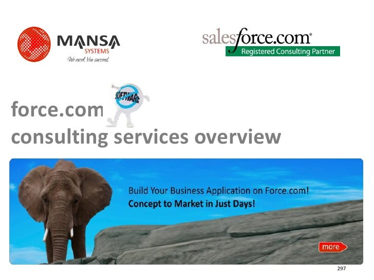 force.com consulting services overview                                    297