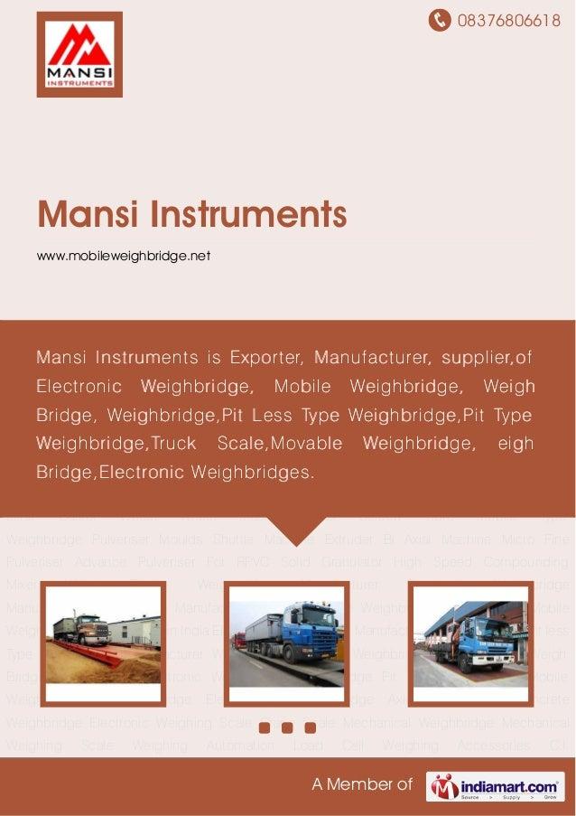 08376806618A Member ofMansi Instrumentswww.mobileweighbridge.netElectronic Weighbridge Weighbridge Pit Type Weighbridge Mo...