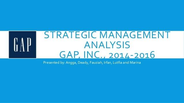 Gap Inc: SWOT analysis Essay