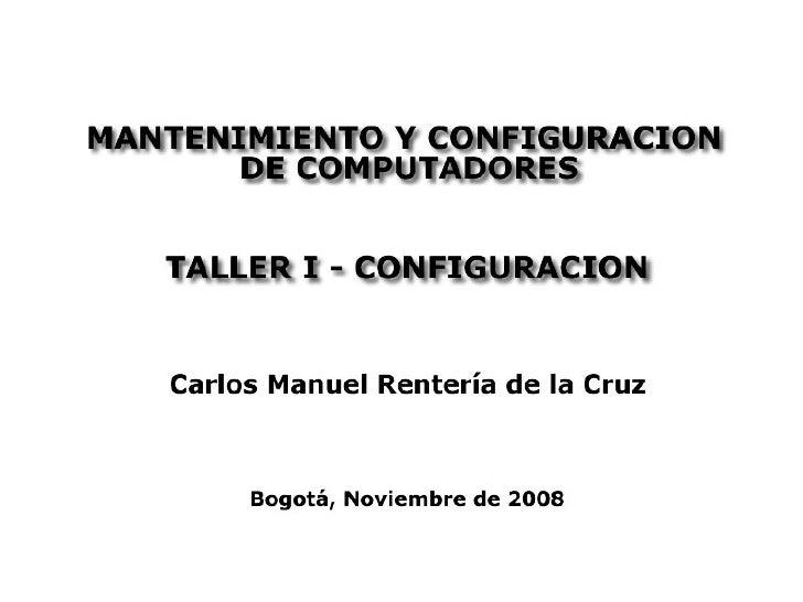 Mantenimiento configuracion-computadores