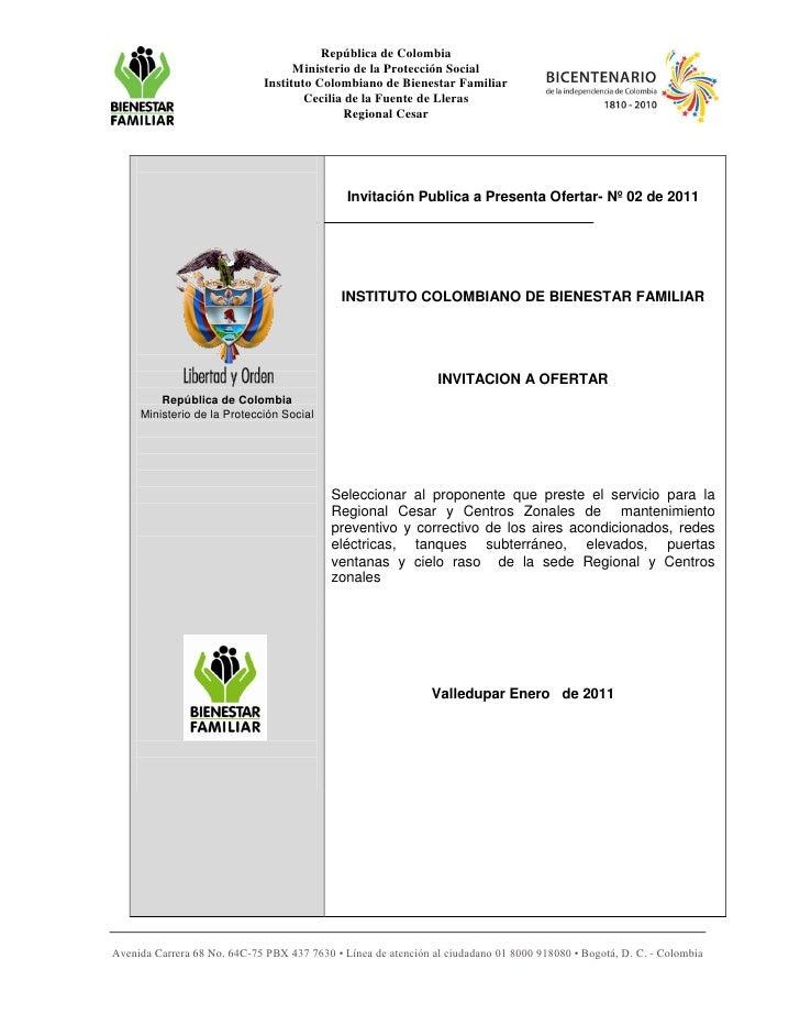 República de Colombia                                    Ministerio de la Protección Social                              I...