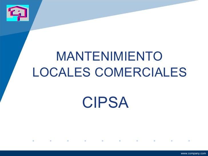 Mantenimiento a locales comerciales capacitación 2010uvm