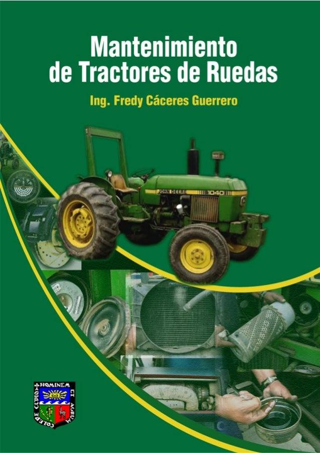 Mantenimiento de tractores de rueda.