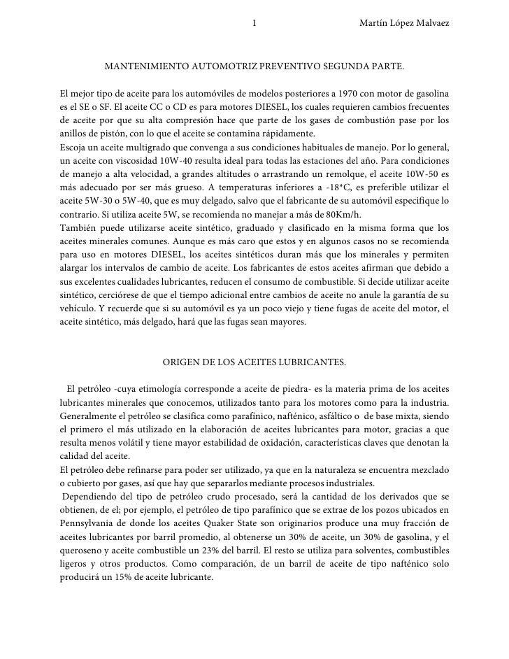 1                           Martín López Malvaez               MANTENIMIENTO AUTOMOTRIZ PREVENTIVO SEGUNDA PARTE.  El mejo...
