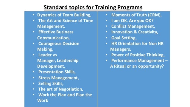 leadership skills training topics