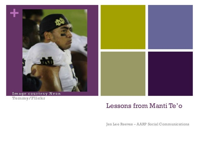 Lessons from Manti Te'o