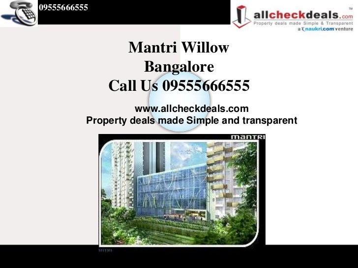 Mantri Willow @ Call 09555666555