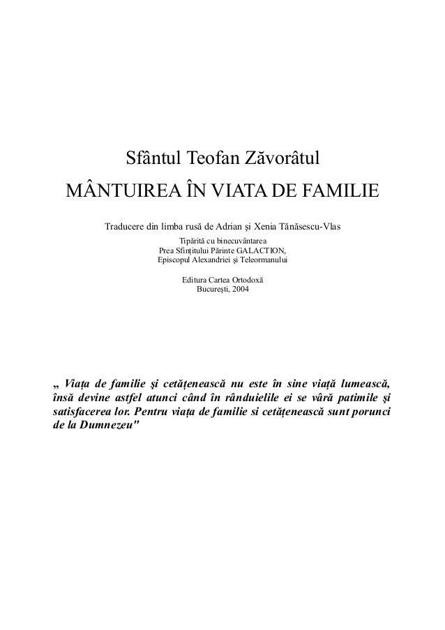 Mantuirea in viata de familie
