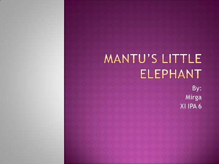 Mantu's little elephant mirgawati