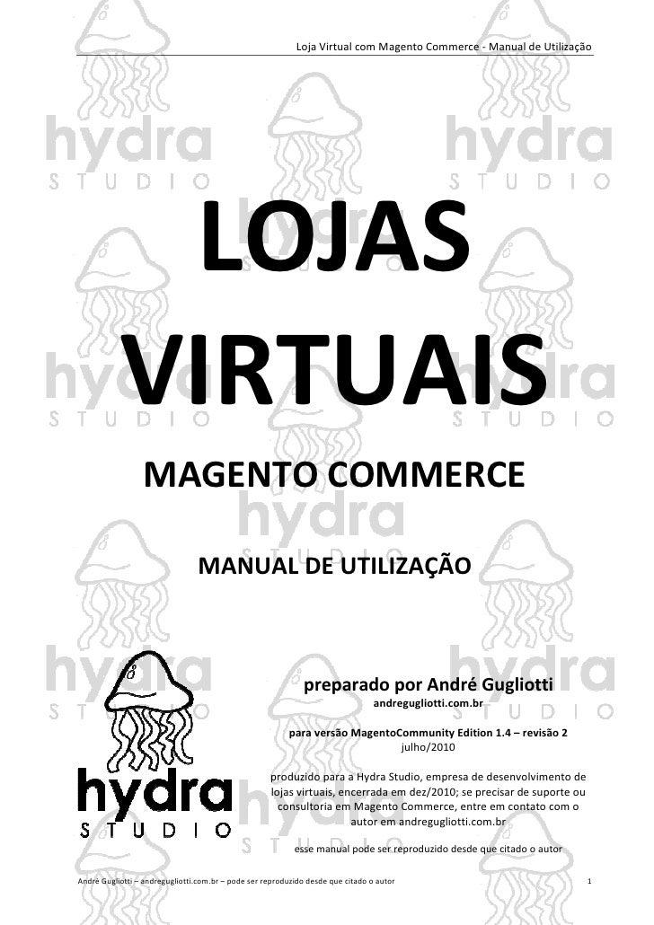 Loja Virtual com Magento Commerce - Manual de Utilização            LOJAS           VIRTUAIS                 MAGENTO COMME...