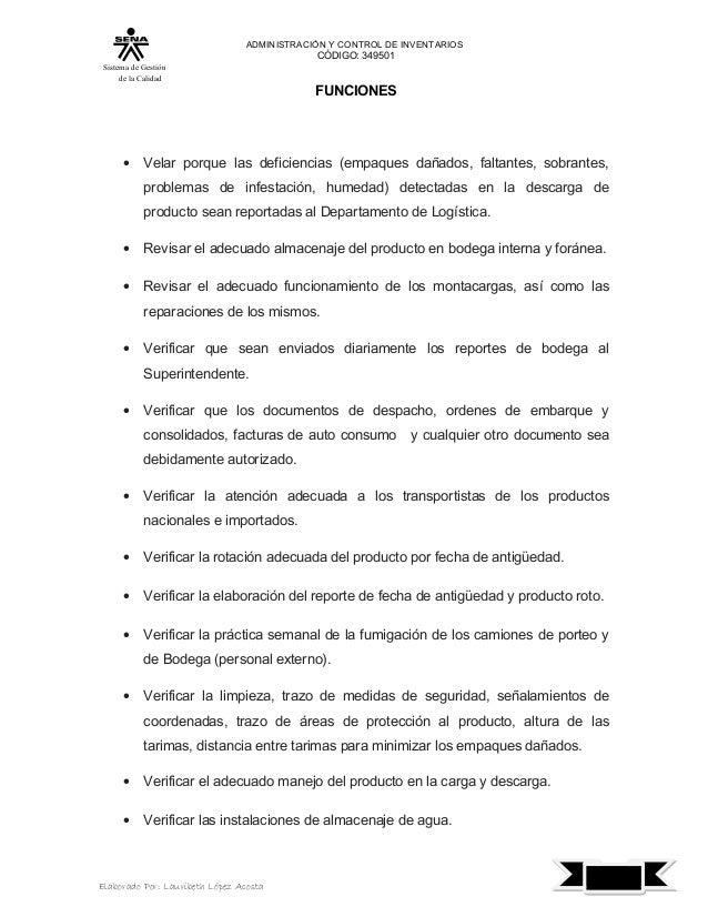 Manual de funciones de jefe de bodega for Manual de funciones de un restaurante pdf